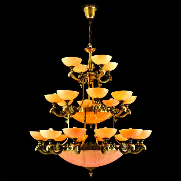 52 CĐ 1129 24 - Đèn chùm đồng chất lượng giá rẻ CĐ 1129-24
