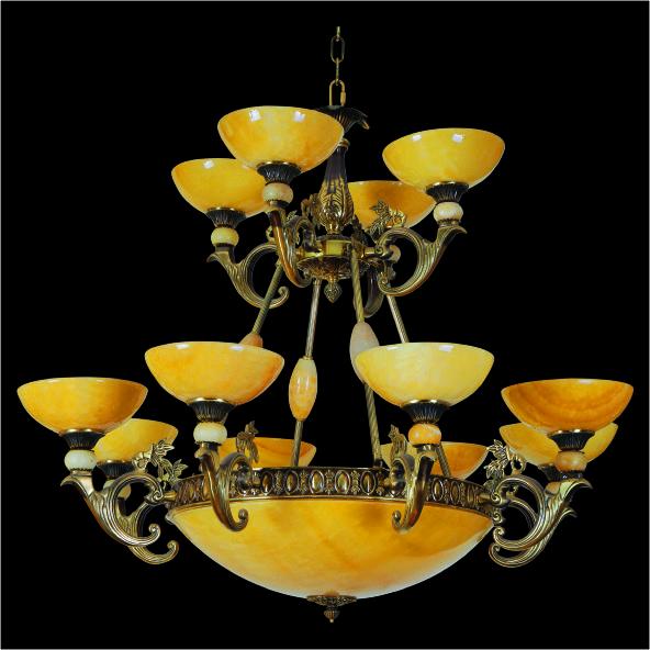 Đèn chùm đồng CĐ-1132-84