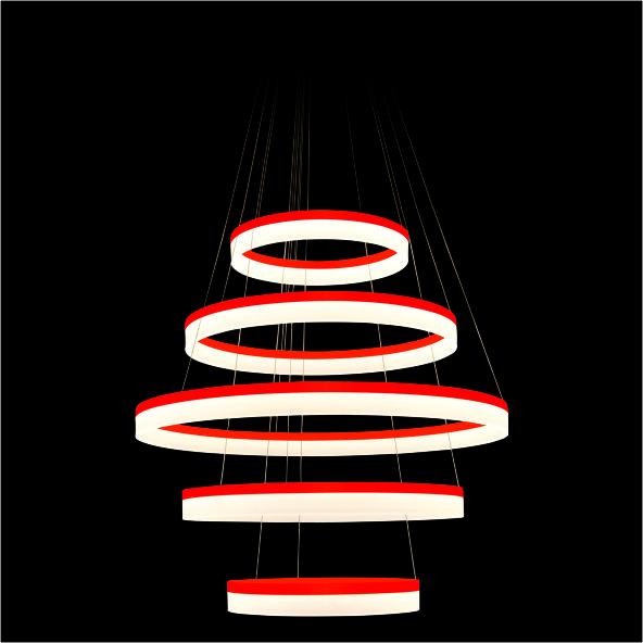 2 CTL 006 ĐỎ - Đèn thả trang trí CTL 006 ĐỎ, ĐEN