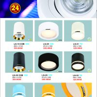 Đèn led lon Downlight Design ốp nổi