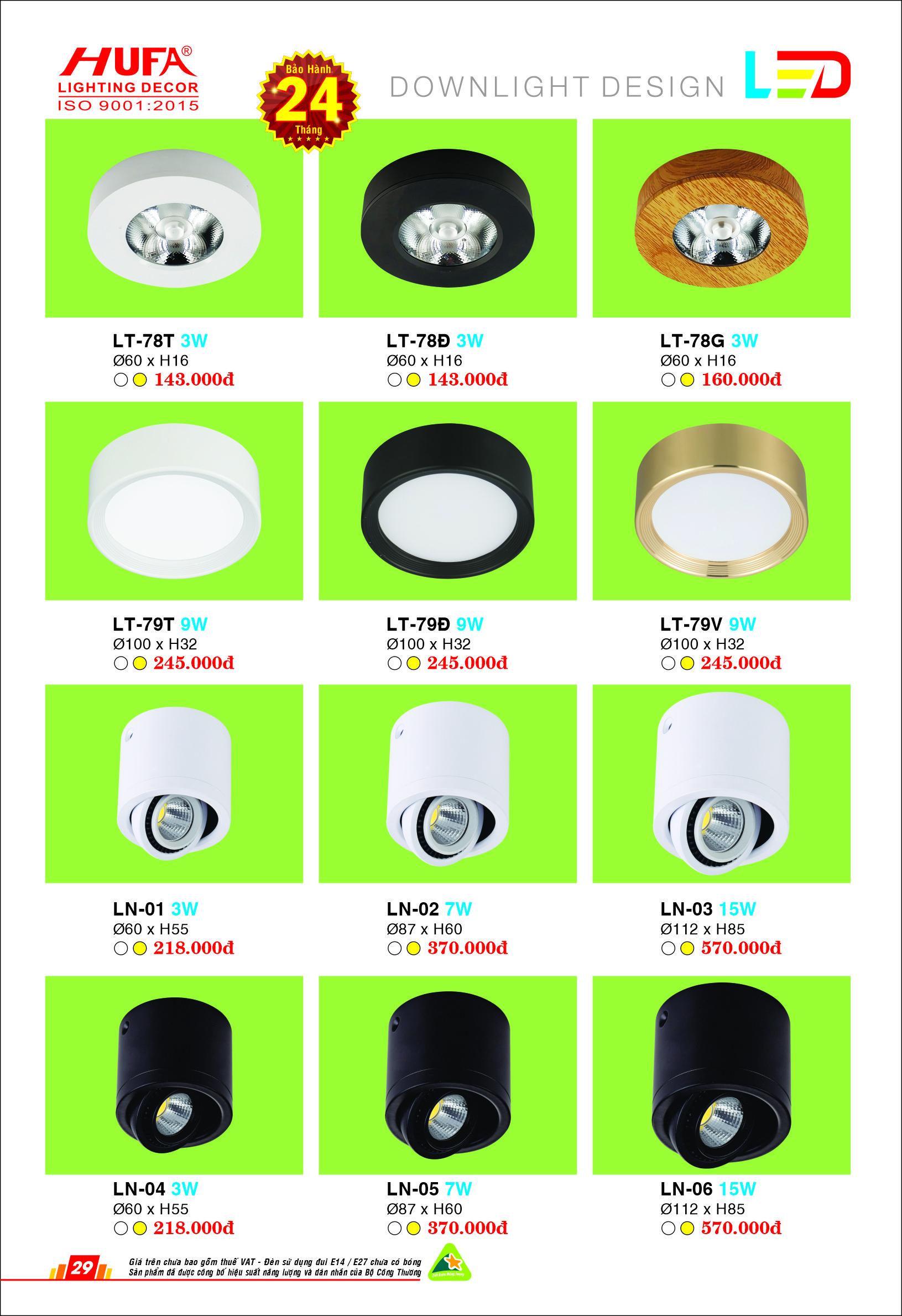 den led lon downlight 3 - Đèn led lon Downlight Design ốp nổi