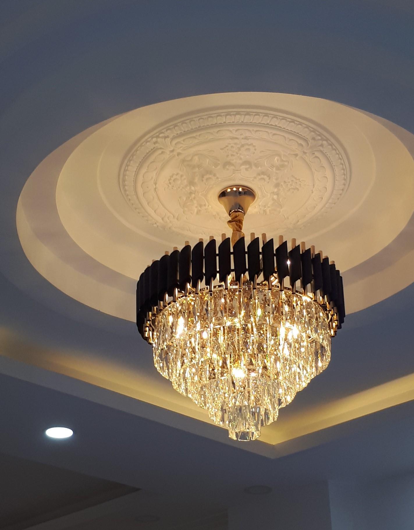 den chum pha le cfl 2233 - Cách chọn đèn trang trí cho phòng khách nhỏ không phải ai cũng biết