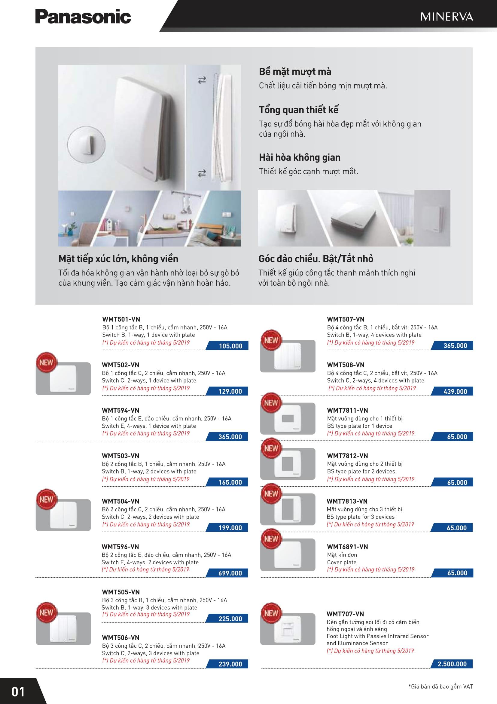 1 - Catalogue thiết bị điện Panasonic