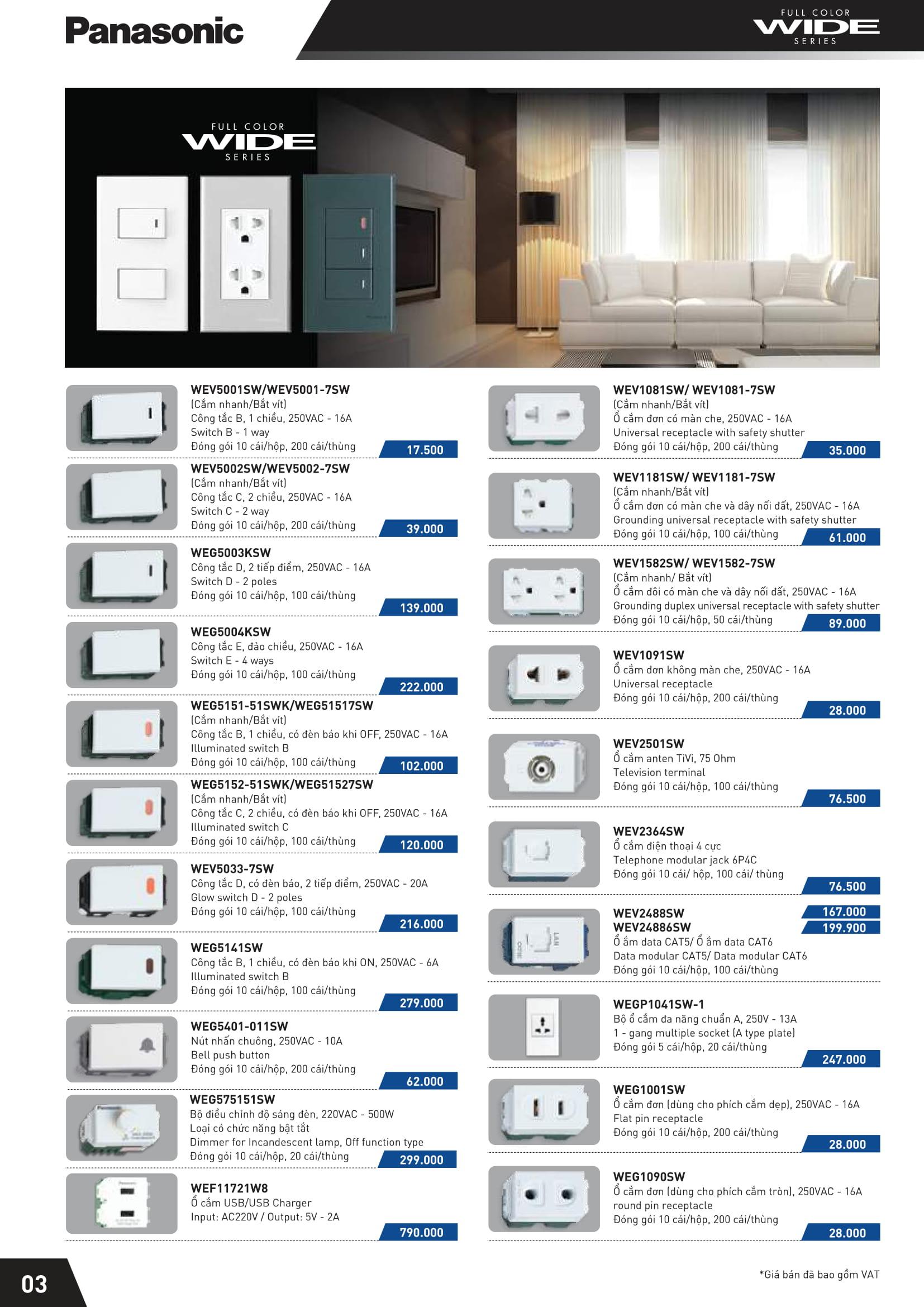 3 - Catalogue thiết bị điện Panasonic