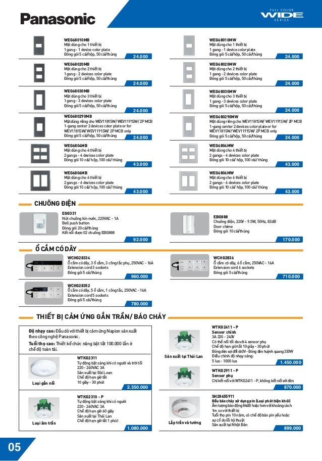 6 - Catalogue thiết bị điện Panasonic