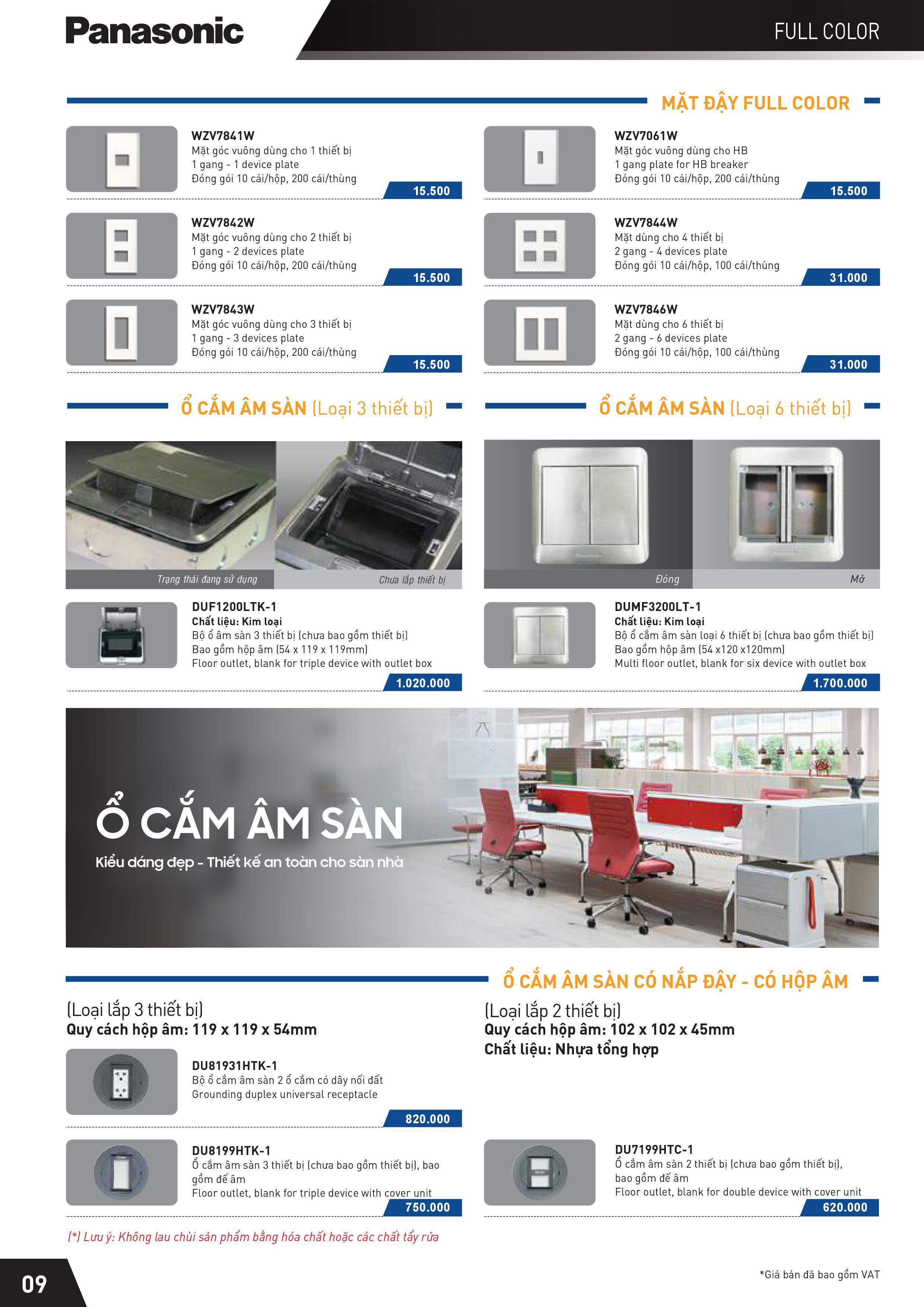 9 - Catalogue thiết bị điện Panasonic