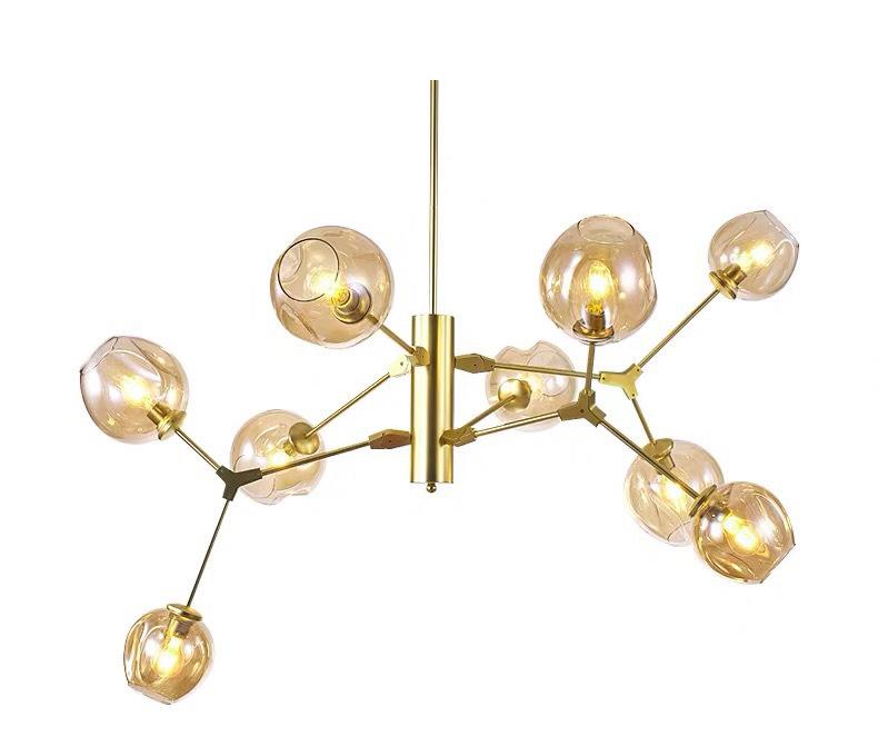 Den tha hien dai TTK16 9B SON VANG 5 - 10 mẫu đèn đẹp hiện đại thả phòng khách giành cho năm 2020