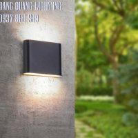 Đèn gắn tường ngoài trời hiện đại đen trắng VL8408