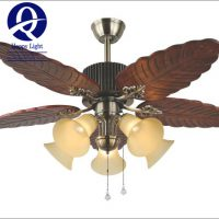 Đèn quạt cánh gỗ hình chiếc lá ĐQ 9058