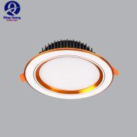 Đèn âm trần MPE 3 màu viền vàng 5W đến 12W
